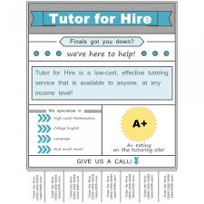 003 Template Ideas Tutoring Flyer Imposing Free Math
