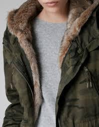 coat fur fur hood winter outfits winter coat camouflage camouflage military style double khaki zara camouflage coat wheretoget