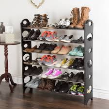 shoe rack stackable storage bench closet bathroom kitchen entry organizer 6 tier space saver shoe rack by everyday home com