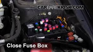 replace a fuse 2008 2014 subaru impreza 2008 subaru impreza 2 5 6 replace cover secure the cover and test component