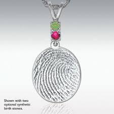 full fingerprint standard sterling silver pendant engravable pm6438