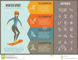 Sports Infographic Template Winter Sport Infographic Template Elements Icons Stock Vector