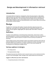 Design And Implementation Of Result Processing System Pdf File Design And Development Of Information Retrieval System