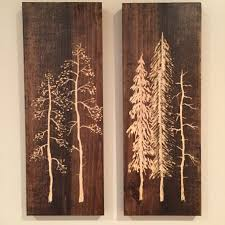 2 pieces of carved pine tree wall art 16high x 55in on wood pine tree wall art with tree of life art thai wall decor carved wood panel solid tree