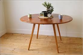 vintage ercol dining table kitchen table drop leaf blonde blue label