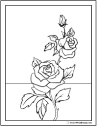 Small Picture Printable Coloring Pages Roses Coloring Pages