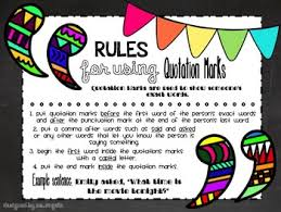 Quotation Marks Anchor Chart Freebie Quotation Marks Anchor Chart