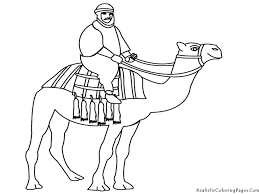 Camel Coloring Pages Realistic | Bebo Pandco