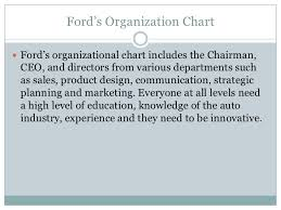 Ford Corporate Structure Chart Ford Motor Company