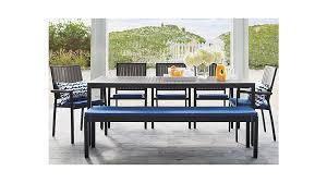 outdoor furniture crate and barrel. Alfresco Sunbrella Dining Bench Cushion Crate And Barrel Garden Furniture Outdoor Y