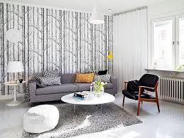 ... Engaging Home Interior Wall Decor With Scandinavian Wallpaper Design :  Drop Dead Gorgeous Modern Living Room ...