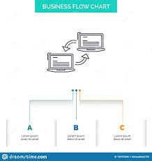 Basic Computer Flow Chart Computer Connection Link Network Sync Business Flow