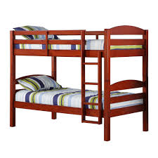 walker edison furniture company ina twin over twin wood bunk bed bwstotch the home depot