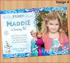 Frozen Birthday Invitations 100 Peerless Personalized Frozen Birthday Invitations