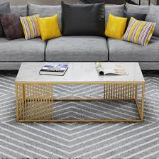 solid surface modern coffee table