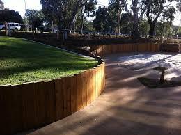 timber retaining wall geelong