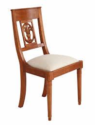 Palmette Stuhl Holz Stoff
