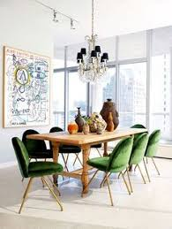 mod chairs trad wood table dining room inspirationdecor