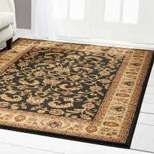 persian black cream area rug 6x8 oriental carpet 08 actual 5 2 x 7 2 for