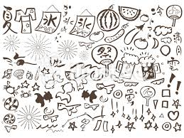 夏祭り夏休み七月八月花火金魚キラキラ納涼イラスト No 484544無料