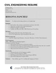 Prepossessing Resume Templates Civil Engineering Technician With