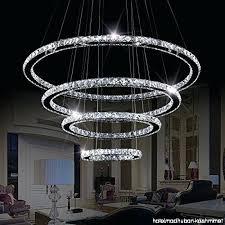 crystal ring chandelier four led 4 rings modern flush mount ceiling light pendant lights adjule harrison crystal ring chandelier