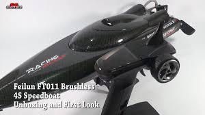 Feilun FT011 65CM <b>2.4G</b> Brushless <b>RC Boat High Speed</b> Racing ...
