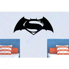 superman wall decals batman superman wall stickers for kids rooms removable decoration door boys art vinyl decals nursery children sticker home decor in