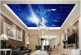photo wallpaper custom wallpaper ceilings blue sky dream angels