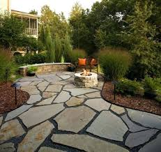 flagstone patio with firepit flagstone patio and natural stone fire pit traditional patio diy flagstone patio with firepit