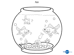 Small Picture Fish Bowl Coloring Pages Gekimoe 24277