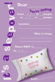 How To Make A Sleepover Invitation Free Printable Girls Slumber Party Invitations Google Search