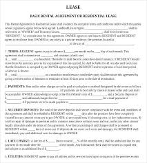 free lease agreement word doc residential rent agreement format free residential lease agreement