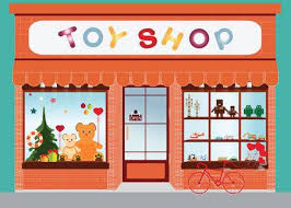 store window clipart. Interesting Window Toy Shop Window Display Exterior Building Kids Toys Vector Illustration  Illustration On Store Window Clipart L
