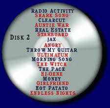 Cd Song List The Ultronz Cds Song Lists