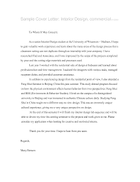 Best Ideas Of Sample Interior Design Cover Letter Cute Cover
