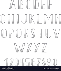Black Alphabet Letters And Numbers Set Abc For