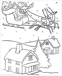 and his reindeer coloring pages beautiful of photos santa pictures claus sleigh page h