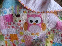 Custom owl baby quilt handmade girls owl crib bedding & ð???zoom Adamdwight.com