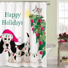 holiday mischief shower curtain