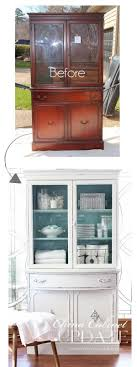 repurpose old furniture. Thrift Store China Cabinet Makeover. Give Your Old A New Shabby Chic Look With Repurpose Furniture