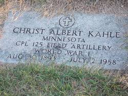 Christ Albert Kahle (1893-1958) - Find A Grave Memorial