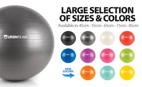 Exercise Ball Size Chart Urbnfit Exercise Ball Multiple Sizes For Fitness Stability Balance Yoga Workout Guide Quick Pump Included Anti Burst Professional Quality