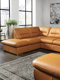 Wohnlandschaft In Leder Orange In 2019 Sofas Couches