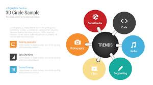 Circle Within Circle Chart 3d Circle Charts Infographics Template For Powerpoint