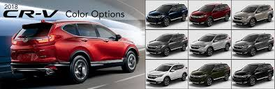 2018 Honda CR-V Color Options