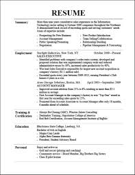 Samples Of Good Resumes Good Example Of A Resume Barback Resume Examples Hotel Resume 12