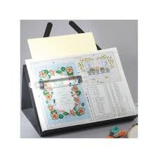 Prop It Magnetic Needlework Chart Holder With Magnifier On