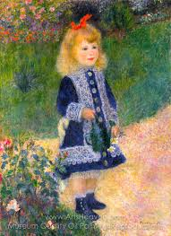 pierre auguste renoir girl with a watering can oil painting reion