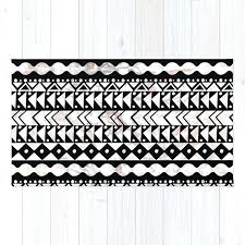 black and white aztec rug elegant black white faux rose gold marble geometrical rug black and black and white aztec rug
